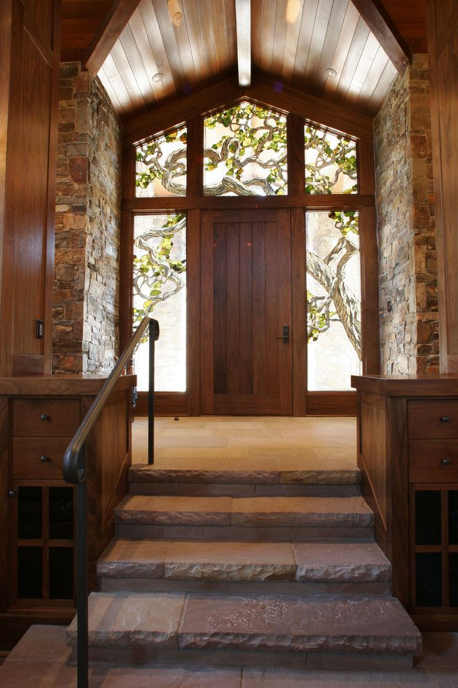 Best Buy Mechanicsburg Pa for a Rustic Entry with a Front Door and Wine Country Living by Mahoney Architects & Interiors