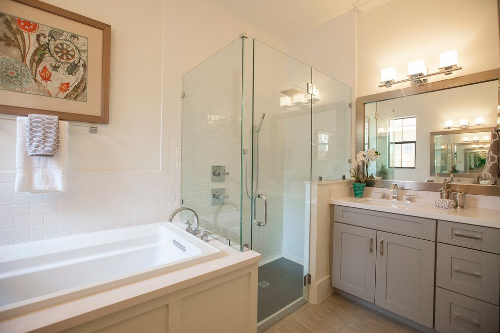Best Buy Mechanicsburg Pa for a Transitional Bathroom with a Three Wall Alcove Tub and College Park, Orlando, Florida   830 Stetson St. by the Hope Team