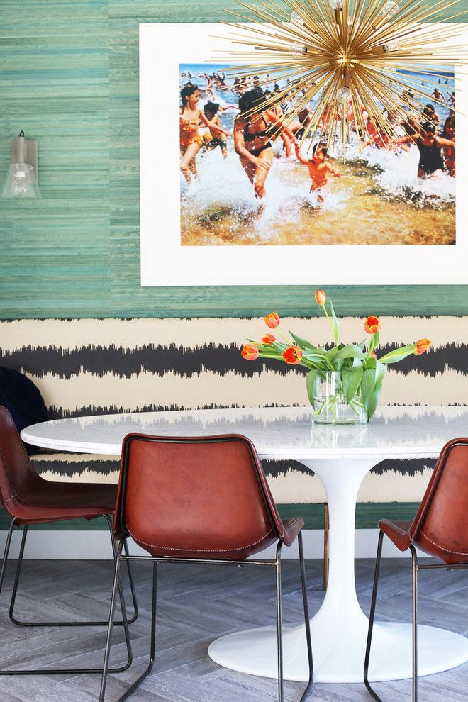 Best Buy Waco Tx for a Midcentury Dining Room with a Color Photography and Hollywood Hills Retreat by Caitlin & Caitlin Design Co.