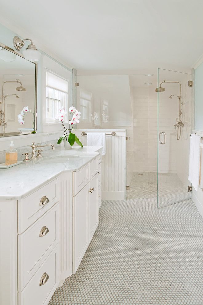 Best Buy Watertown Ma for a Contemporary Bathroom with a Penny Tile and Master Bathroom Remodel, Dennis, Ma by Kitchen Views at National Lumber