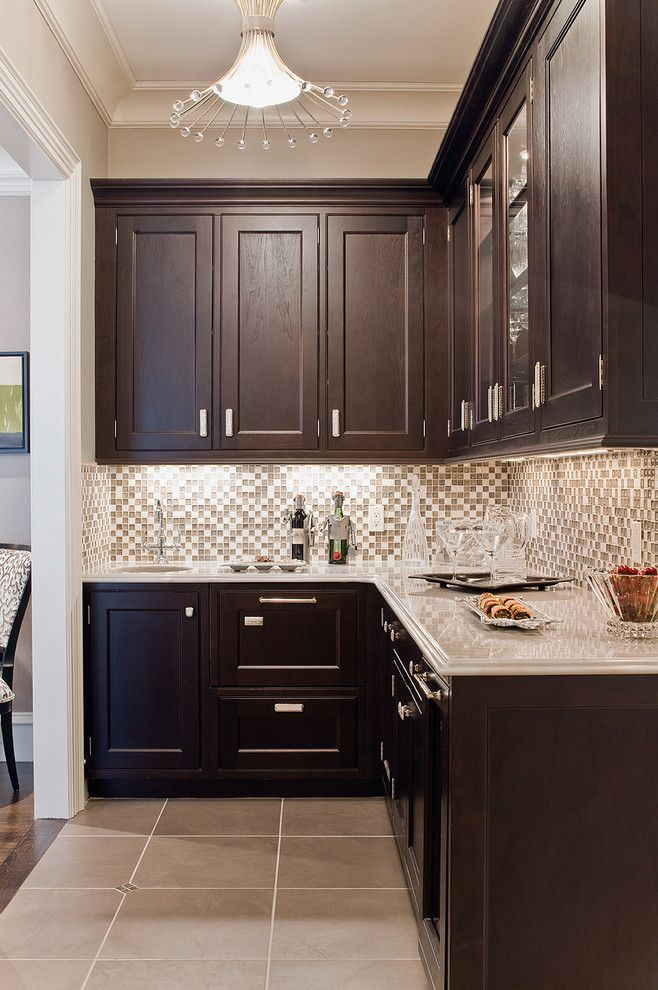 Best Buy Watertown Ma for a Traditional Kitchen with a Kitchen Hardware and Aston Road Butler's Pantry by Venegas and Company