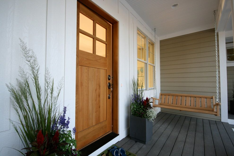 Best Buy Webster Tx for a Beach Style Entry with a Beadboard Ceiling and Monroe Beach House by Cottage Home, Inc.