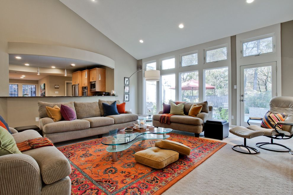 Best Buy Webster Tx for a Contemporary Living Room with a Soft Contemporary and Duffield Drive by Jodell Clarke Designs