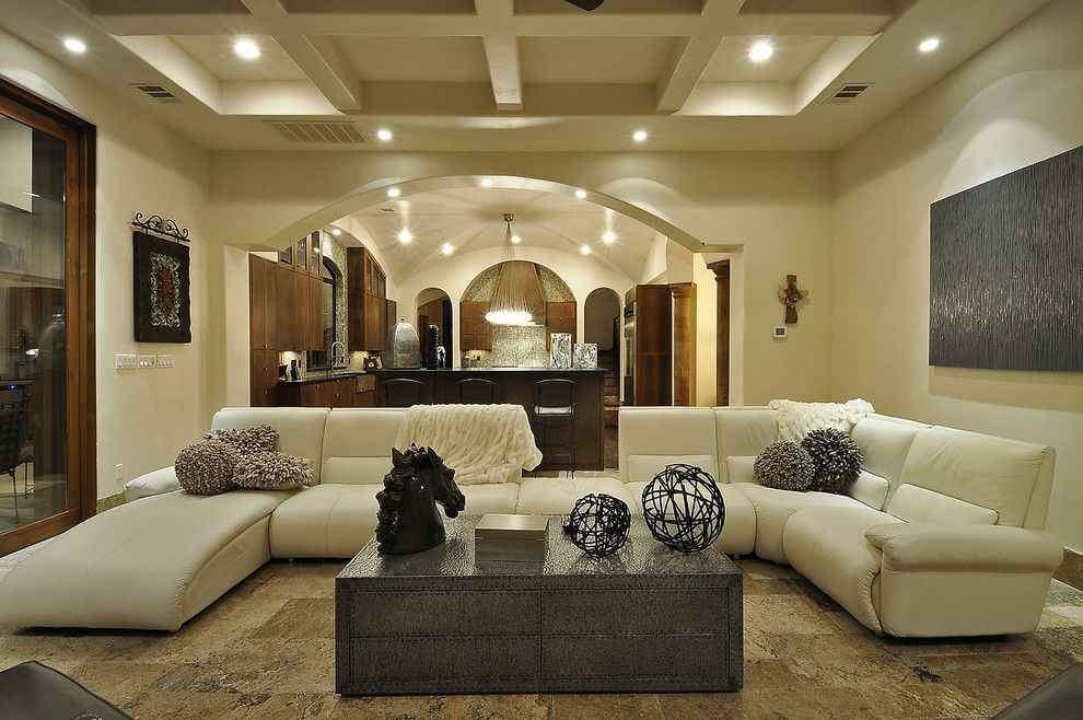 Best Buy Webster Tx for a Mediterranean Living Room with a Great Room and Racca by Design Visions of Austin
