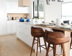 Best Buy Webster Tx for a Modern Kitchen with a Wood Floor and West 2nd Street, North Vancouver by Gaile Guevara