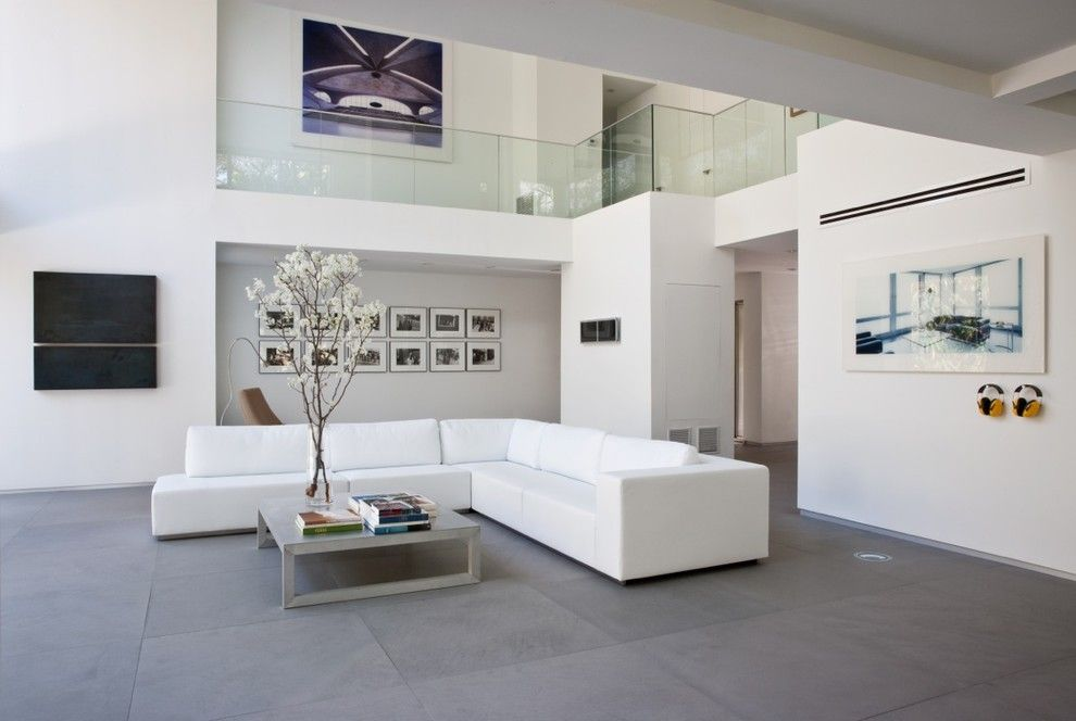 Best Buy Webster Tx for a Modern Living Room with a Tall Ceilings and Stein Residence by [Strang] Architecture