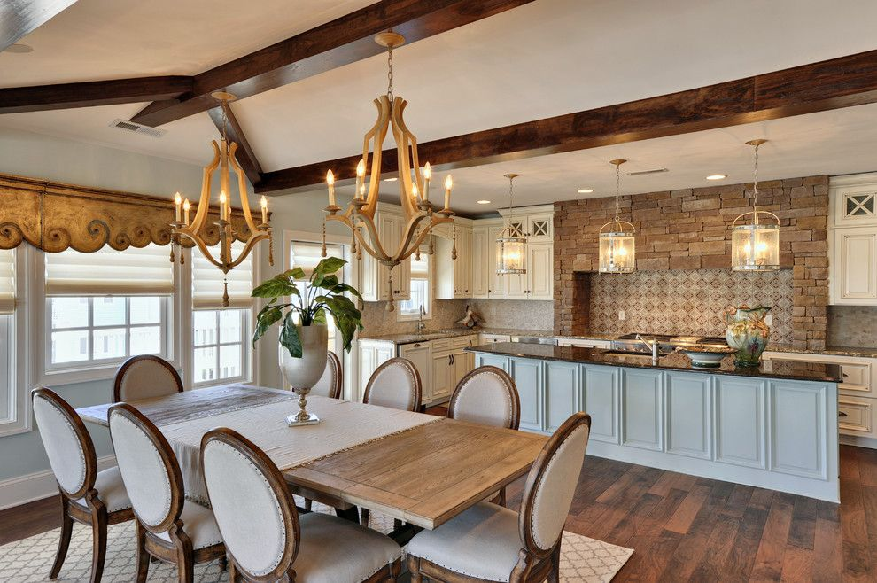 Best Buy Webster Tx for a Traditional Dining Room with a Wood Table and Dining & Kitchen by Echelon Custom Homes