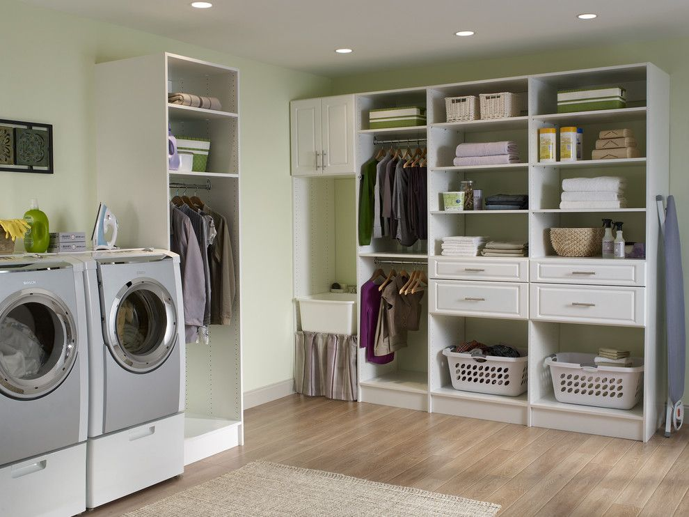 Best Smelling Laundry Detergent for a Contemporary Laundry Room with a Organization and Contemporary Laundry Room by Closetmaid.com