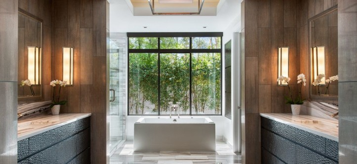 Best Way to Unclog a Toilet for a Contemporary Bathroom with a Tray Ceiling and Bali-Inspired Modern by Western Window Systems