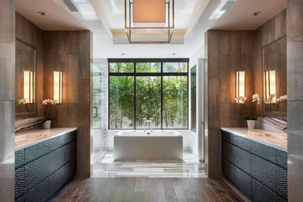 Best Way to Unclog a Toilet for a Contemporary Bathroom with a Tray Ceiling and Bali Inspired Modern by Western Window Systems