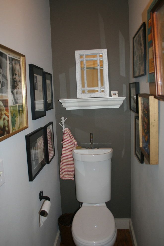 Best Way to Unclog a Toilet for a Eclectic Powder Room with a Bathroom and My Favorite Things by Samantha Schoech