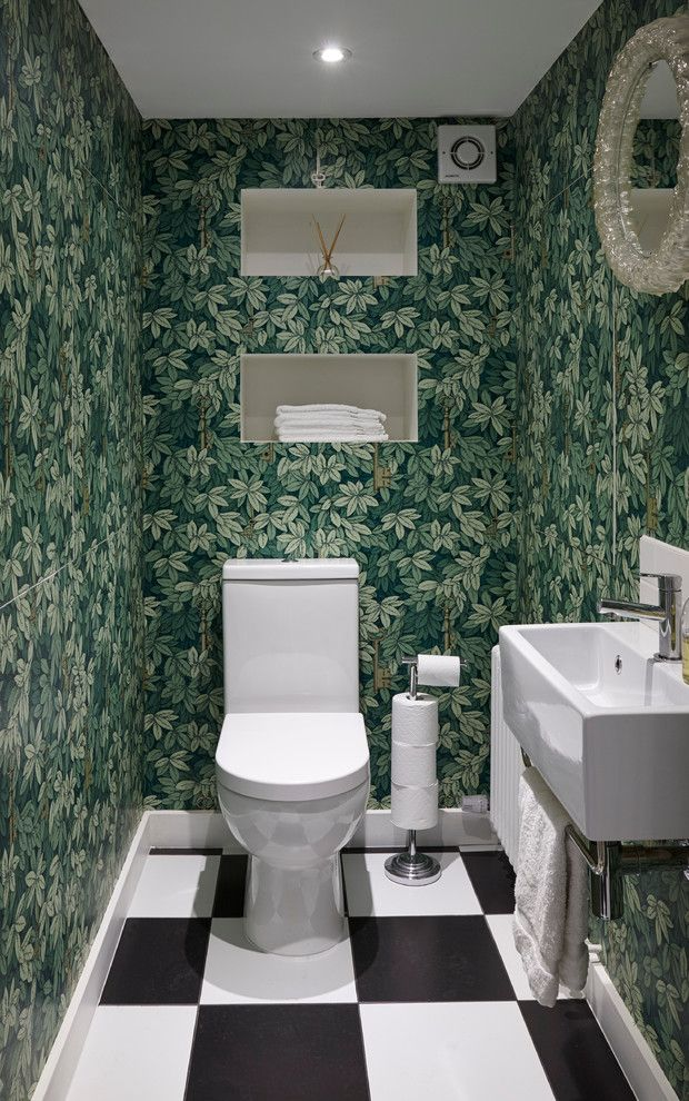 Best Way to Unclog a Toilet for a Eclectic Powder Room with a Jake Fitzjones Photography Ltd and Mountview by Martins Camisuli Architects