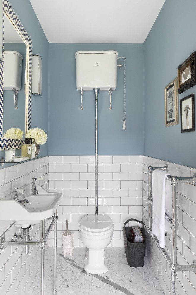 Best Way to Unclog a Toilet for a Traditional Powder Room with a Georgian Style and Family Residence by Oliver Burns