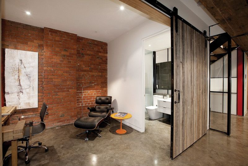 Better Business Bureau Richmond Va for a Industrial Home Office with a Barn Doors and Richmond Warehouse Conversion by K+Architects
