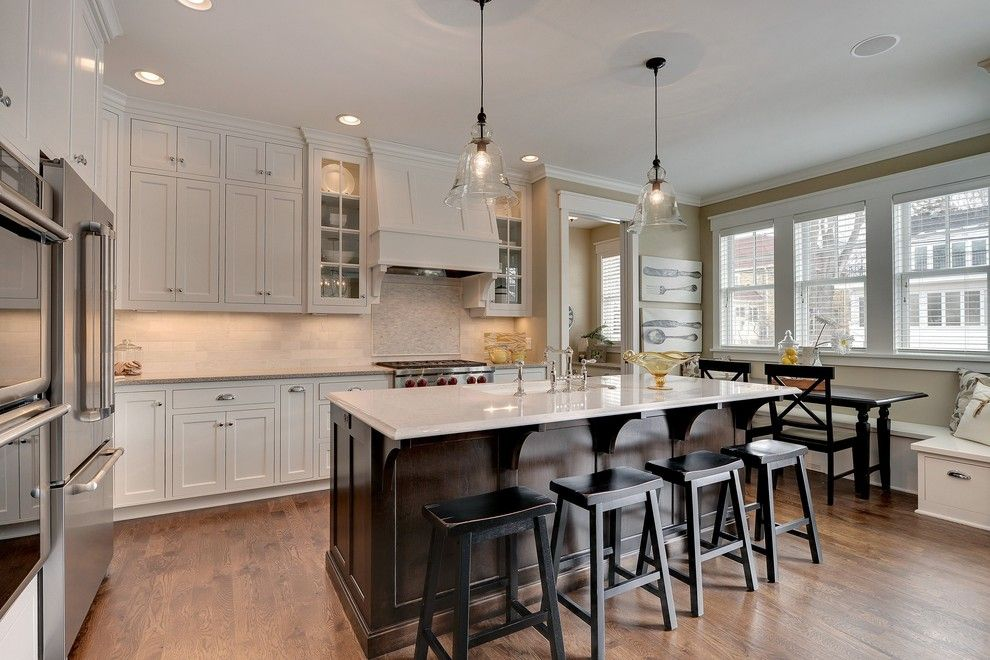Beveled Edge for a Traditional Kitchen with a Ceiling Flush Cabinets and 2013 Spring Parade of Homes by Highmark Builders