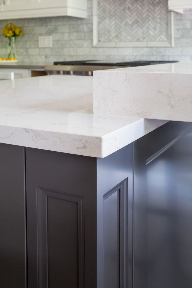 Beveled Edge for a Transitional Spaces with a Tabletop and Ramshaw by Paragon Kitchens