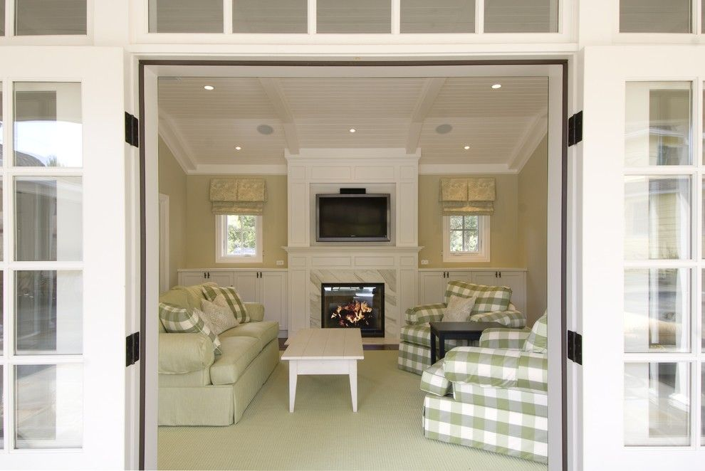 Bif Furniture for a Traditional Living Room with a French Doors and Design Savvy by Design Savvy