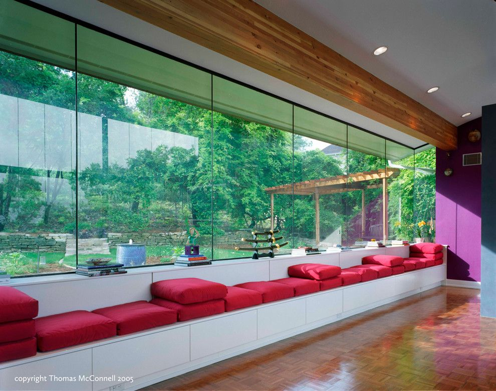 Binswanger Glass Austin for a Contemporary Home Theater with a Addition and Epic Game Room by Cg&s Design Build