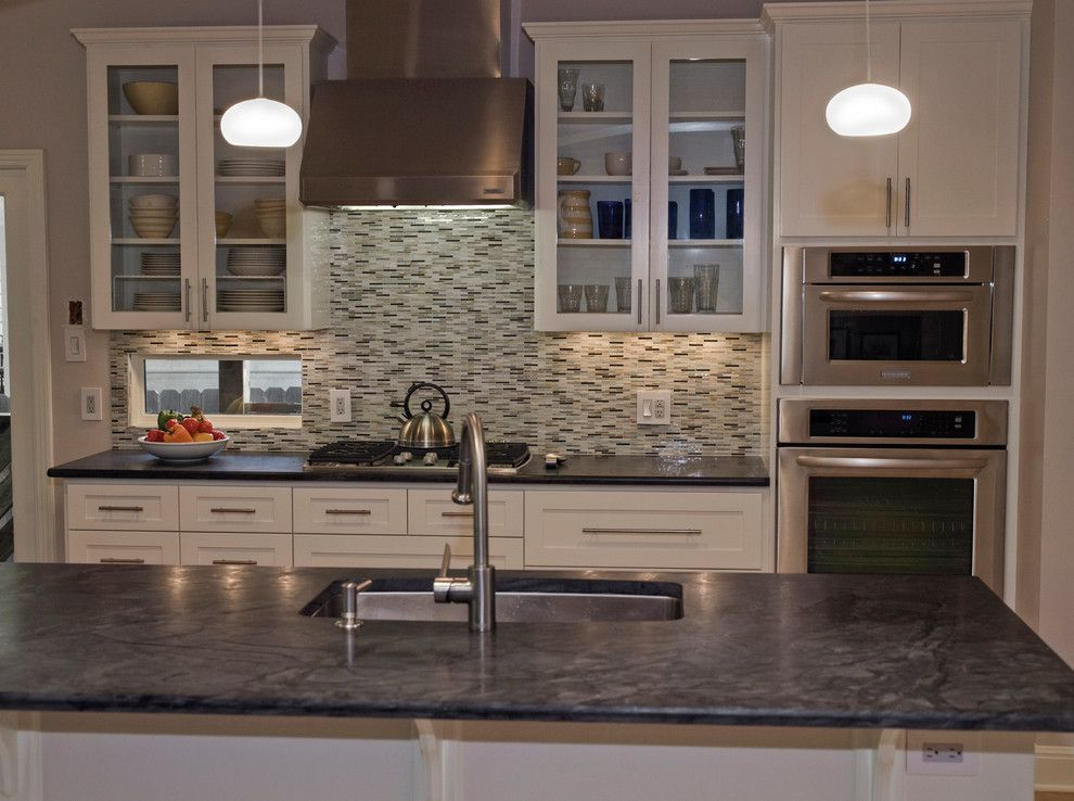 Binswanger Glass Austin for a Traditional Kitchen with a Natural Soapstone and Dorado Soapstone Installed - Kitchen by Latera Architectural Surfaces / Dorado Stone
