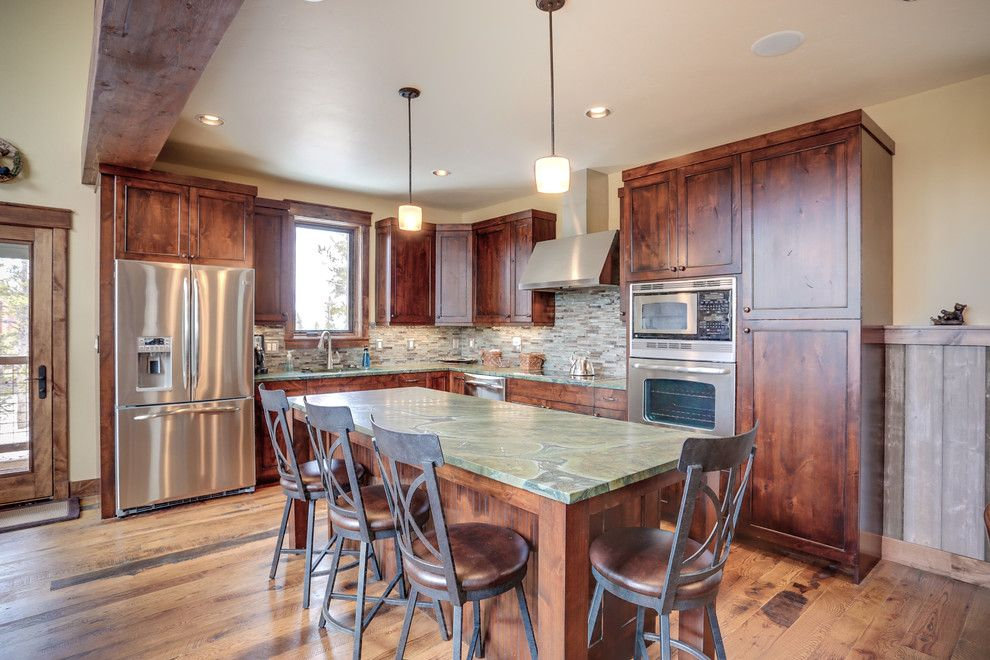Blackman Plumbing Locations for a Rustic Kitchen with a Mountain Home and Kitchen Part of Ski Home Remodel in Breckenridge Colorado Before and After by Trilogy Partners