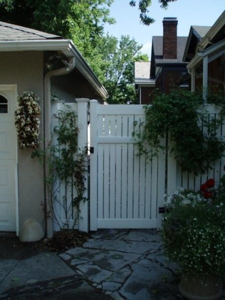 Bloomin Gardens for a  Exterior with a White Gate and Landscaping / Our Work by Bloomin Garden Centre