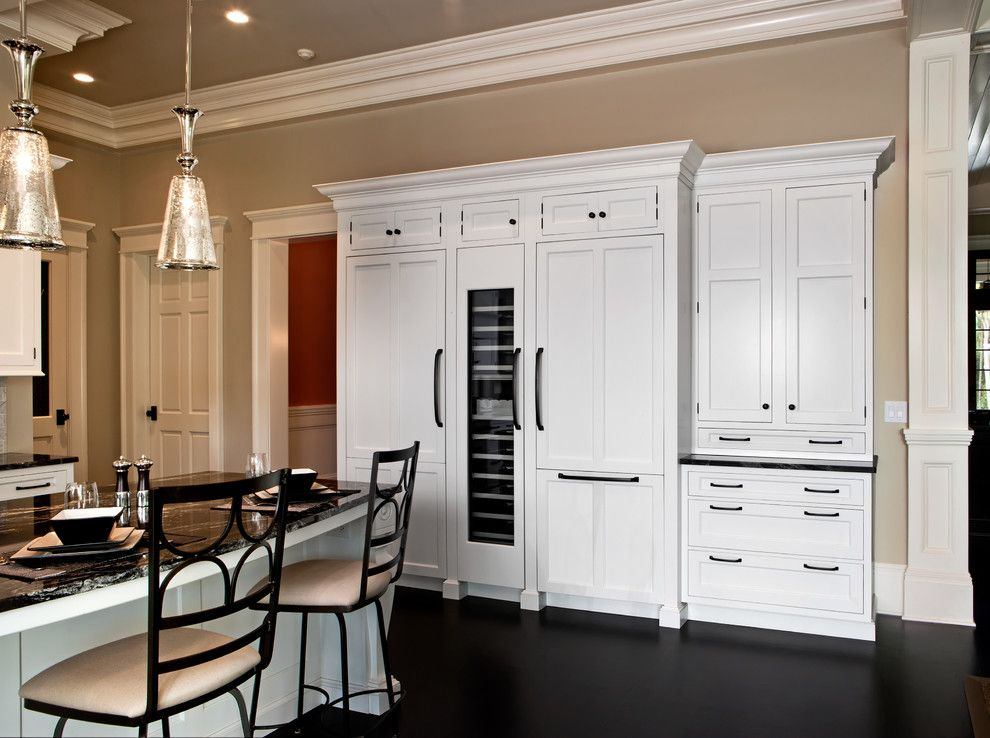 Bluefin Bay for a Contemporary Kitchen with a Dark Floors and Thermador by Thermador Home Appliances