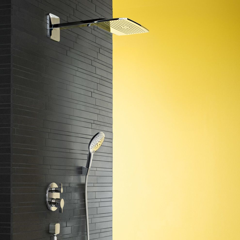 Boars Head Inn for a Modern Bathroom with a Black Tile and Hansgrohe by Hansgrohe USA