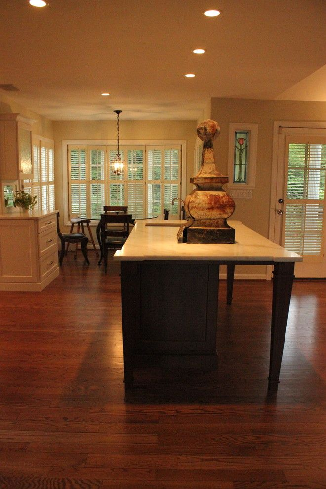 Bobrick for a Traditional Kitchen with a Marble Counter Top and Custom Kitchen by Misch Bobrick Design LLC