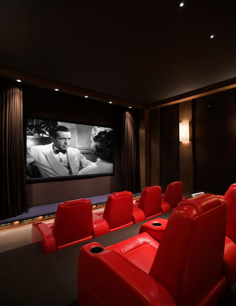 Boca Movie Theater for a Contemporary Home Theater with a Architectural Design and Island Estate by Christian Grevstad Inc.