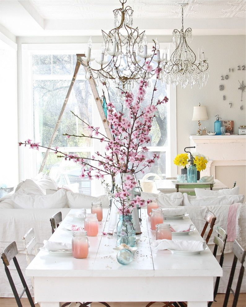 Boca Woods Country Club for a Shabby Chic Style Dining Room with a Place Setting and Dreamy Whites by Dreamy Whites
