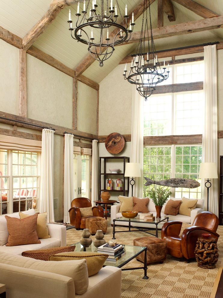 Boca Woods Country Club for a Traditional Living Room with a Fish Sculpture and Bridgehampton Estate by David Scott Interiors