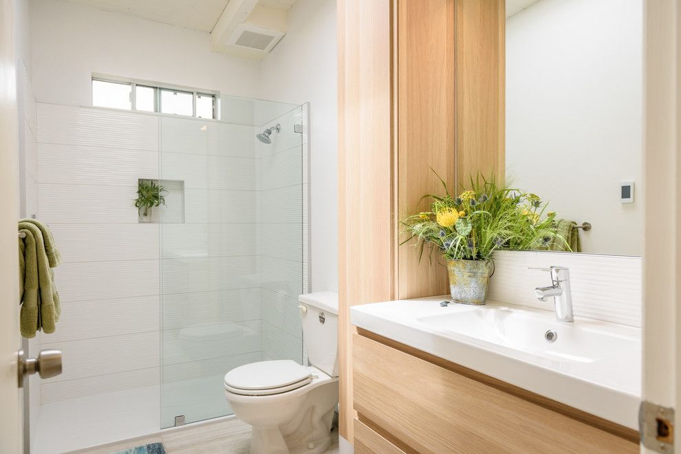 Bodega Bay and Beyond for a  Bathroom with a  and Bodega Bay Remodel by Darcy Tsung Design