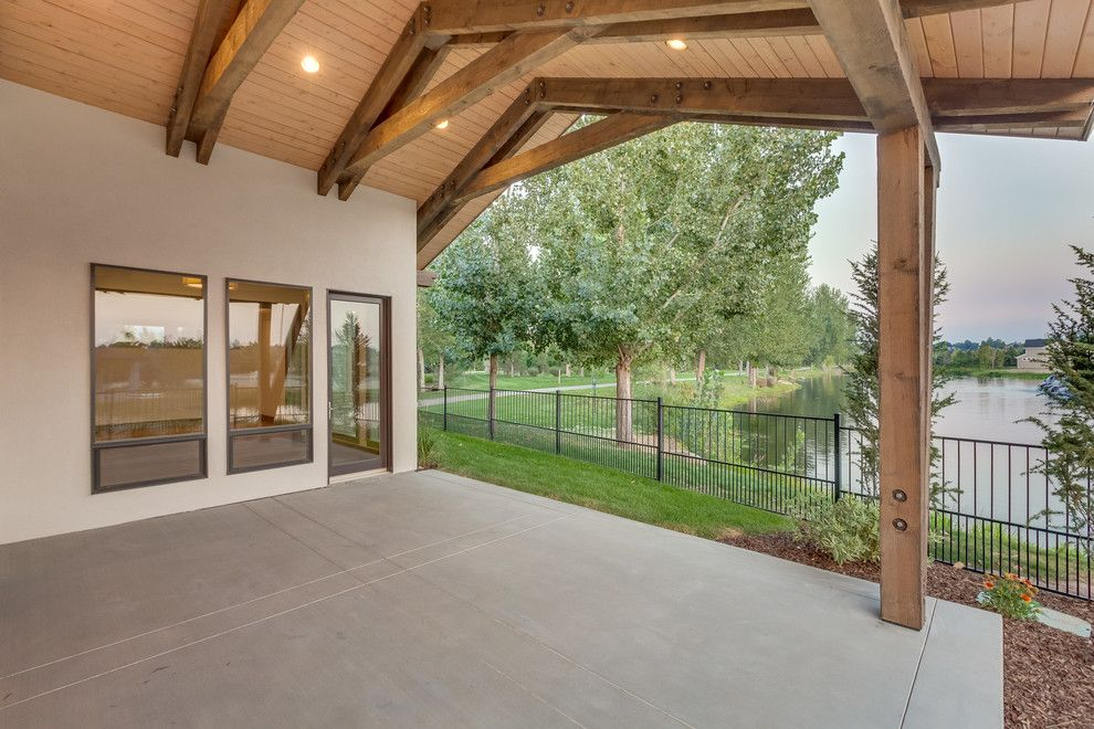 Boise Indoor Soccer for a Industrial Patio with a Wood Beams and Lakemoor by Rsi Construction, Llc
