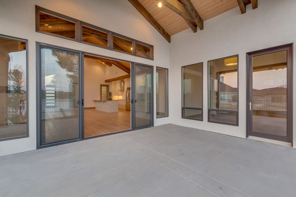 Boise Indoor Soccer for a Industrial Patio with a Wood Ceiling and Lakemoor by Rsi Construction, Llc