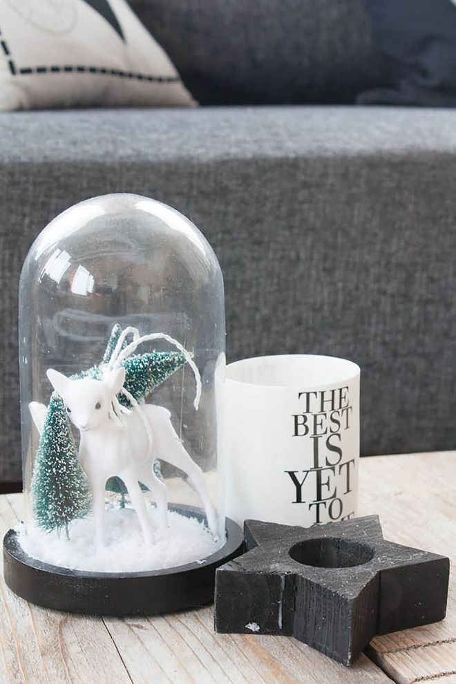 Bottlebrush for a Scandinavian Spaces with a Driftwood Christmas Tree and Scandinavian Style on a Budget in a Small City Apartment by Louise De Miranda