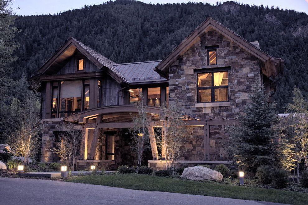 Boulder Lumber for a Contemporary Exterior with a Mountain and Contemporary Exterior by Ksaarch.com