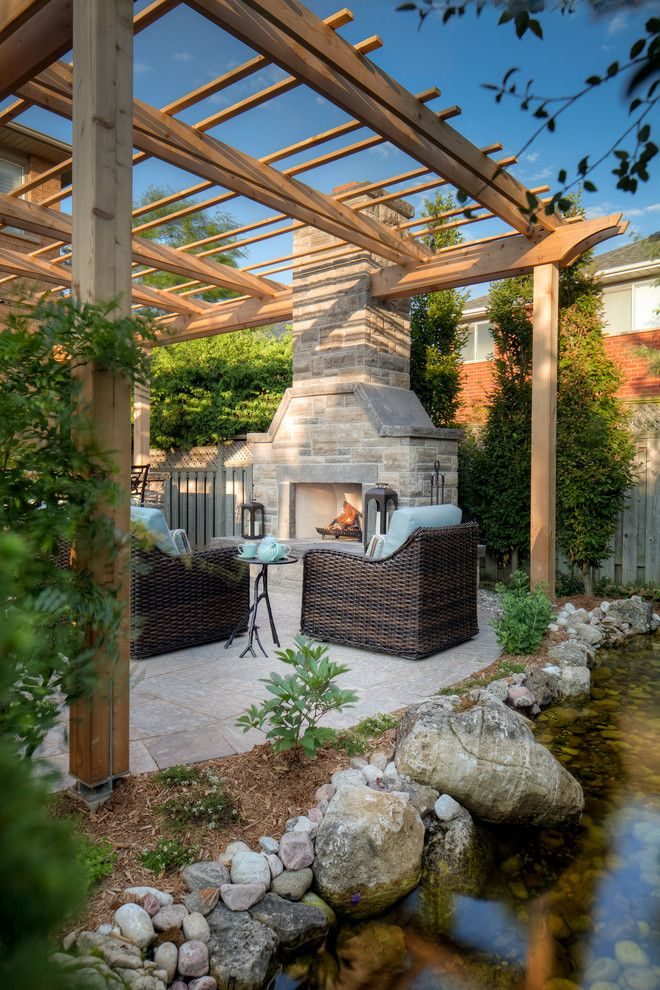 Boulder Lumber for a Contemporary Patio with a Landscape and Ridge Landing Landscape by Juergen Partridge Limited