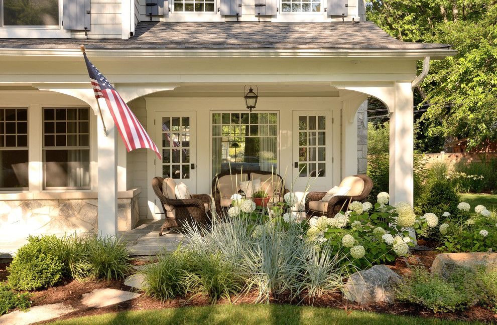 Boulder Lumber for a Traditional Porch with a Covered Porch and Lovely Renovations by Siena Custom Builders, Inc.