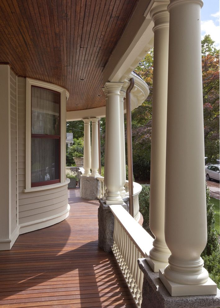 Boulder Lumber for a Victorian Exterior with a Support Posts and Victorian Splendor by Siemasko + Verbridge