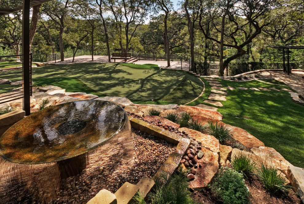 Boulders Golf for a Traditional Landscape with a Oklahoma Stone and Project Four by Pearson Landscape Services
