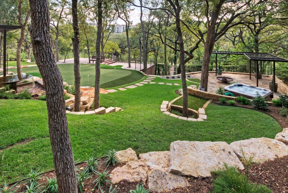 Boulders Golf for a Traditional Landscape with a Patio and Project Four by Pearson Landscape Services