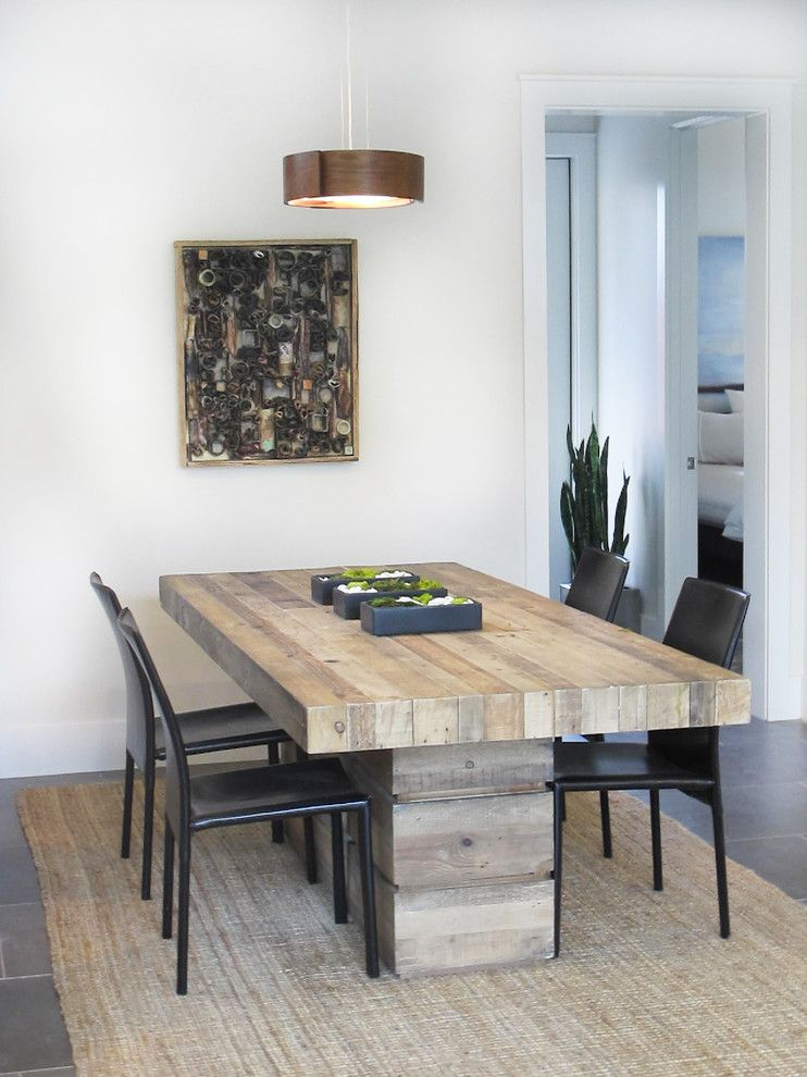 Bouldin Creek for a Contemporary Dining Room with a Funky and Bouldin Creek by Saavedra Design Studio