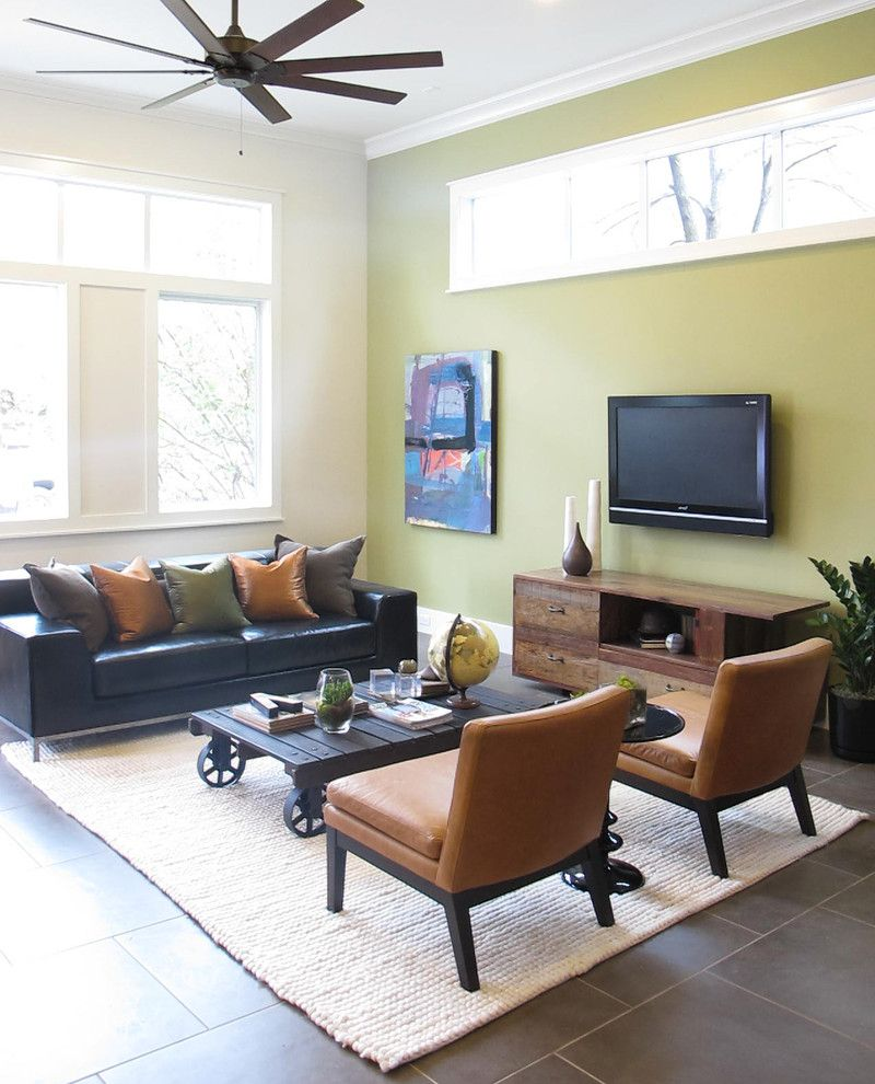 Bouldin Creek for a Contemporary Living Room with a Armless Chair and Bouldin Creek by Saavedra Design Studio
