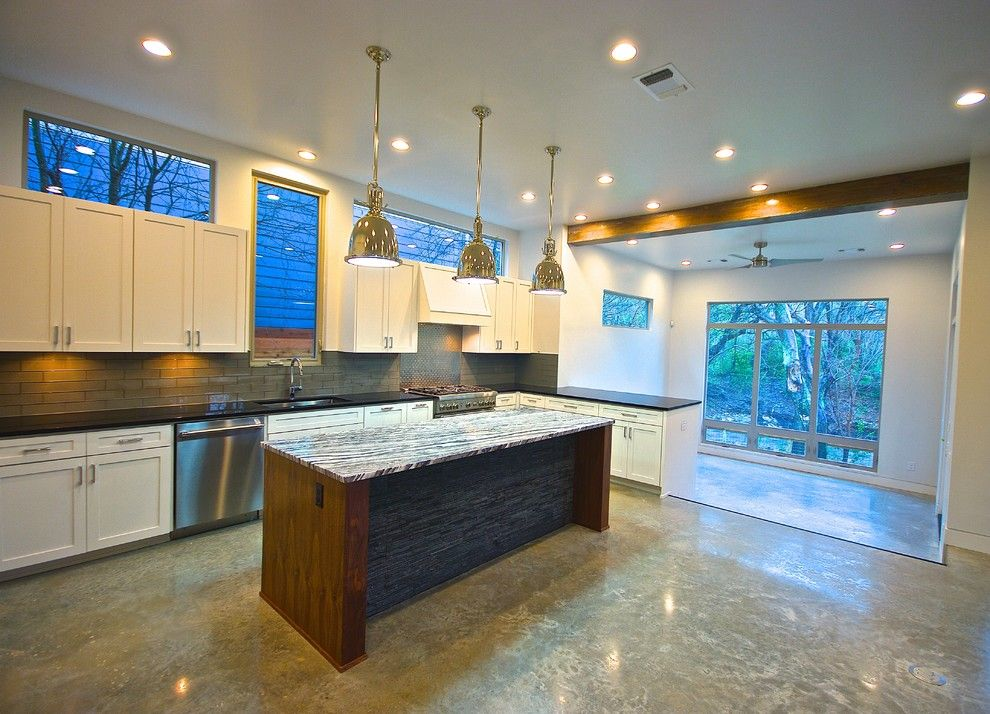 Bouldin Creek for a Modern Kitchen with a Concrete Floors and Bouldin Creek Modern by Bonterra Build | Design