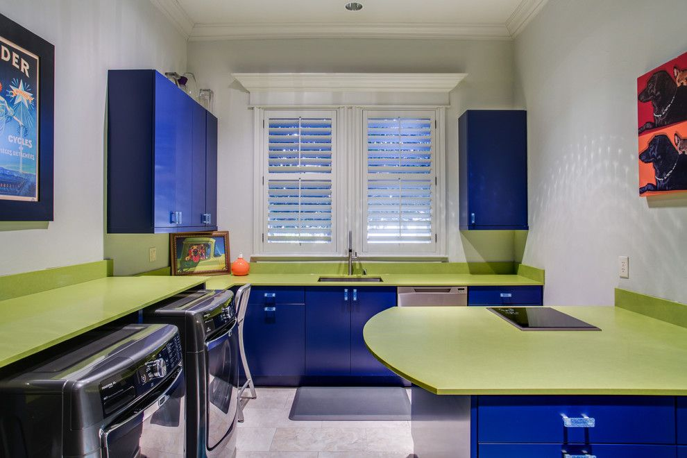 Bowling Alley Dallas for a Modern Laundry Room with a Laundry Products and Southlake / Live Oak Ln / Laundry Room by Kitchen Design Concepts