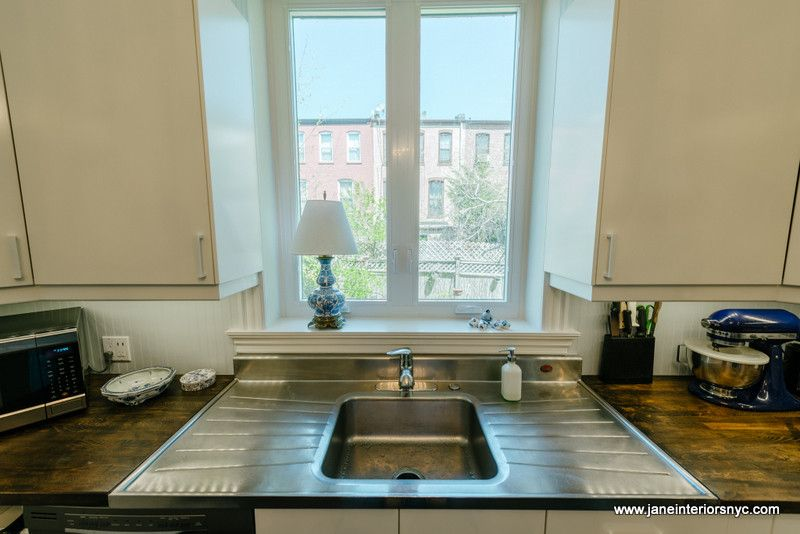 Bowling Alleys in Nyc for a Transitional Kitchen with a Nyc Designer and Blue and White Kitchen by Jane Interiors Nyc