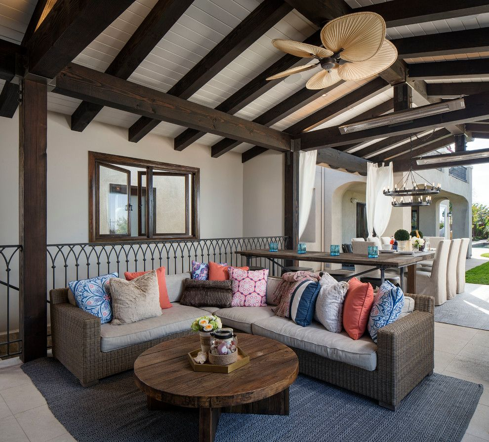 Bravos Pizza for a Mediterranean Patio with a Indoor Outdoor and Rustic Cabana by Kw Designs