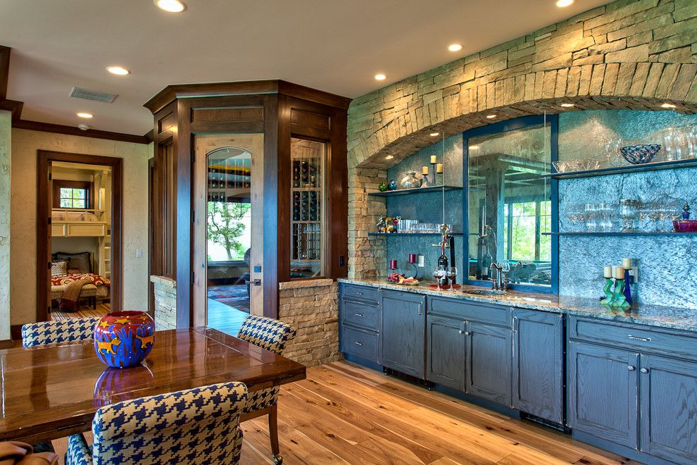 Bravos Pizza for a Traditional Dining Room with a Wood and Beautiful Mountain Residence by Glennwood Custom Builders (Nc)
