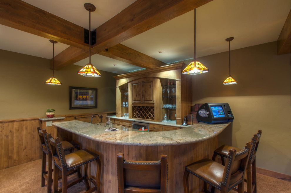 Breckenridge Theater for a Rustic Home Theater with a Views and 95 Sunrise Point Drive, Breckenridge, Co by Paffrath & Thomas Real Estate