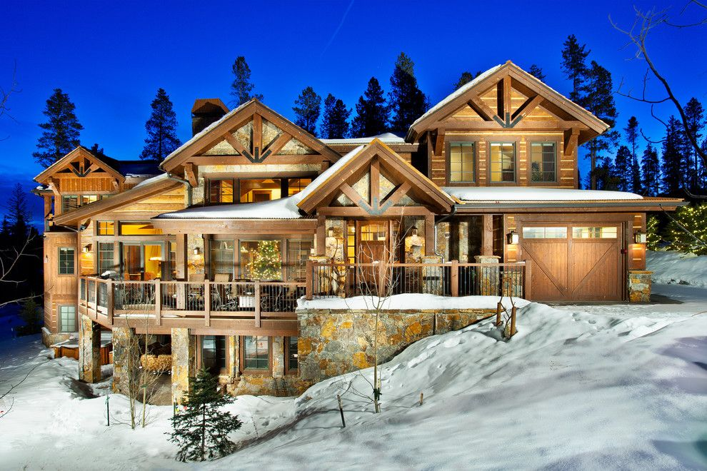 Breckenridge Theater for a Traditional Exterior with a Climbing Wall and 1296 Ski Hill Road   Exterior by Pinnacle Mountain Homes